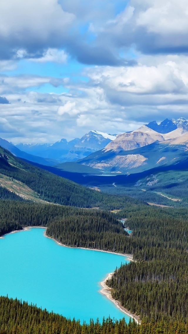 Canada Blue Lake Iphone Se Wallpaper Download Iphone Wallpapers