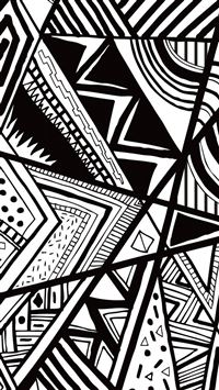 Black And White Doodle iPhone 5(s/c)~se wallpaper
