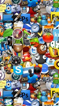 Icons iPhone 5(s/c)~se wallpaper