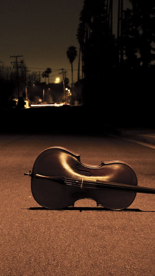 Cello On The Street IPhone Se Wallpaper Download