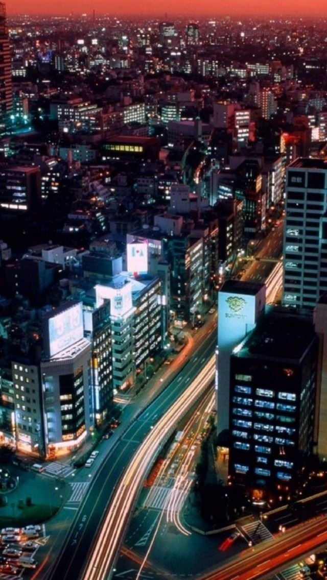 Night View Tokyo Japan IPhone Se Wallpaper