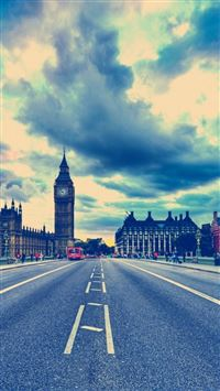 London Big Ben Road United Kingdom iPhone 5(s/c)~se wallpaper