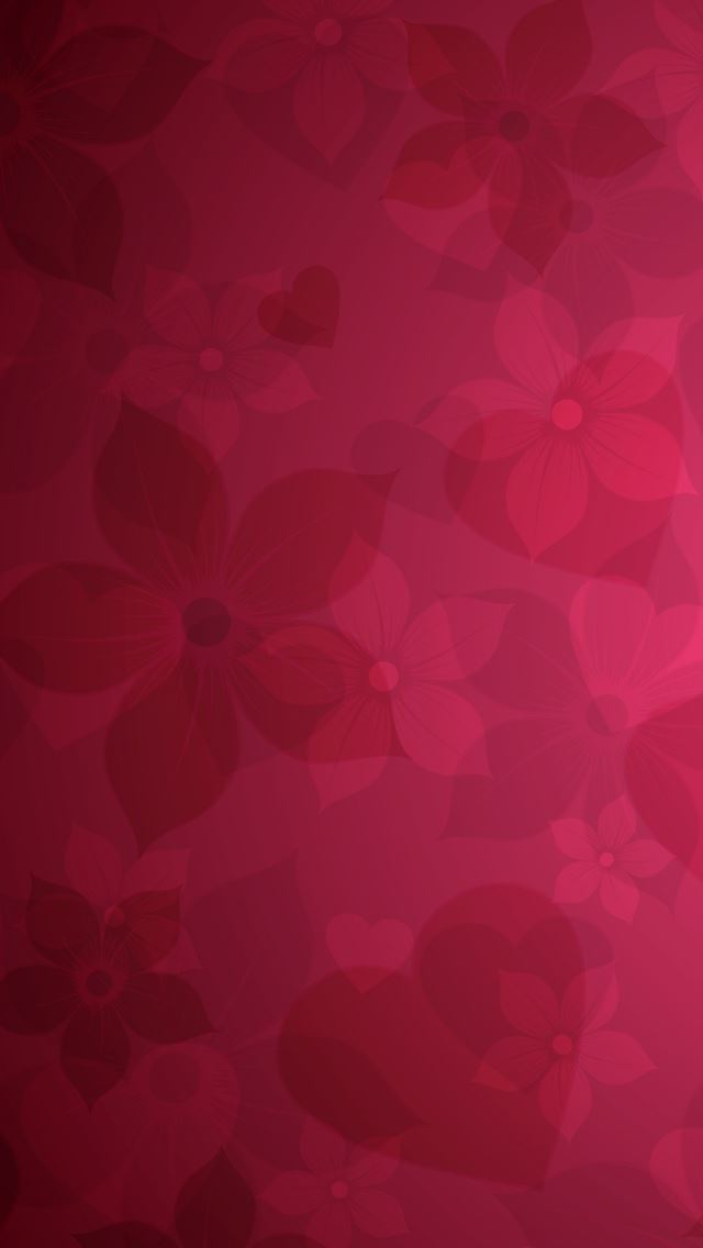 Red Floral Pattern IPhone Se Wallpaper