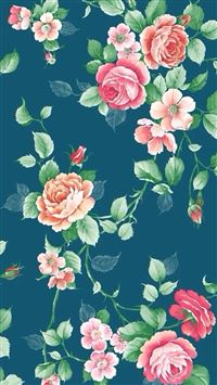 Floral background iPhone 5(s/c)~se wallpaper