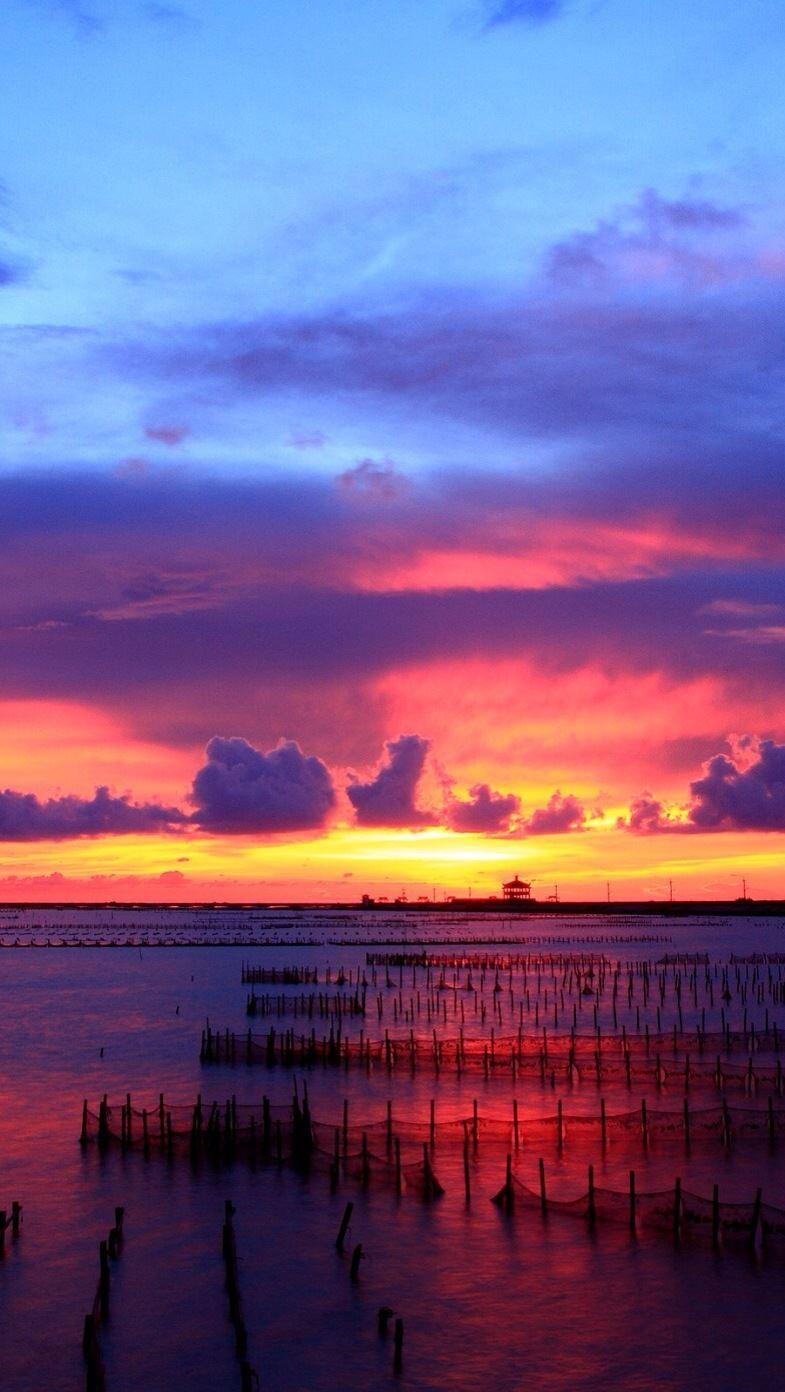 Sunset At Sea IPhone Se Wallpaper