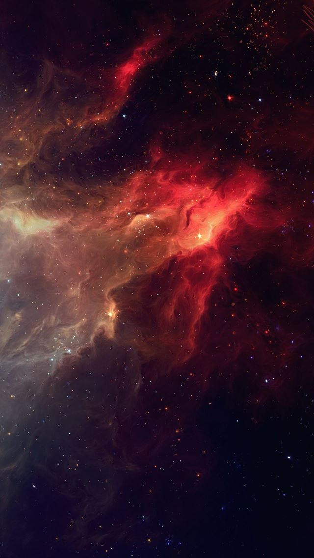 Smoky Fire Galaxy IPhone Se Wallpaper