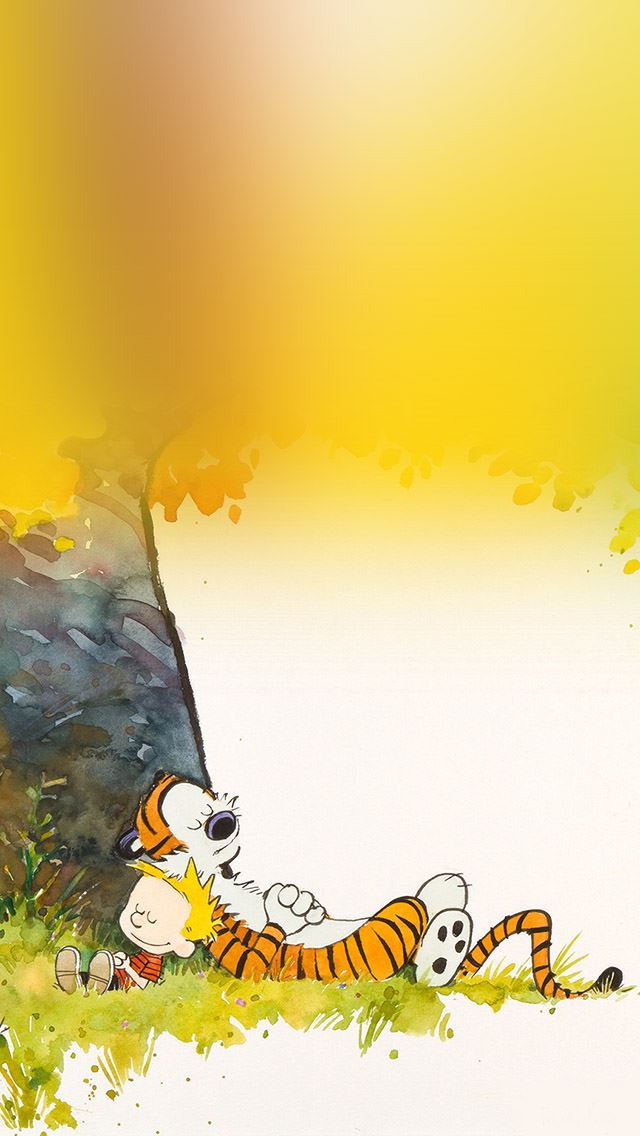 Calvin And Hobbes Sleeptime Iphone Se Wallpaper Download