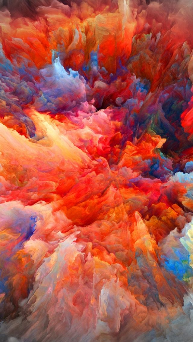 Explosion Of Colors iPhone se wallpaper