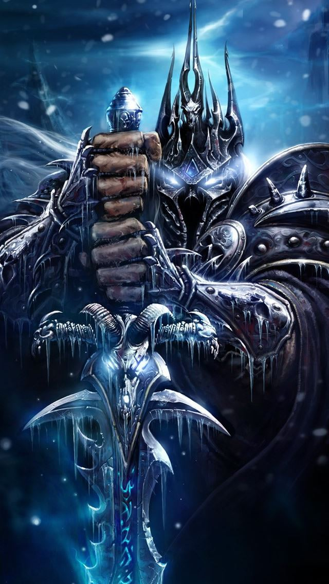 World Of Warcraft Death Knight iPhone se wallpaper