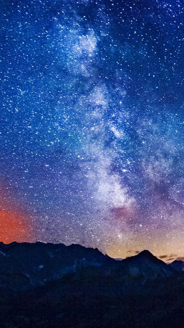 Milky Way Mountains Iphone Se Wallpaper Download Iphone Wallpapers