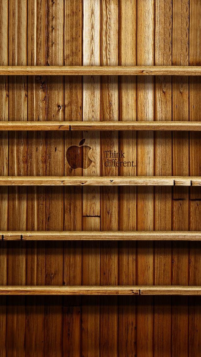 Bookshelf Ios7 Wallpaper IPhone Se