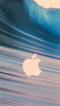 Mac Logo Surging Wave iPhone 5(s/c)~se wallpaper