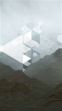 Abstract Grid Mountain Background iPhone 5(s/c)~se wallpaper