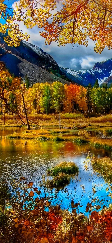 Mountain Autumn IPhone Se Wallpaper