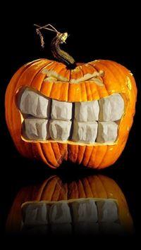 1239 16: Pumpkin Big Grin Halloween iPhone 5(s/c)~se wallpaper