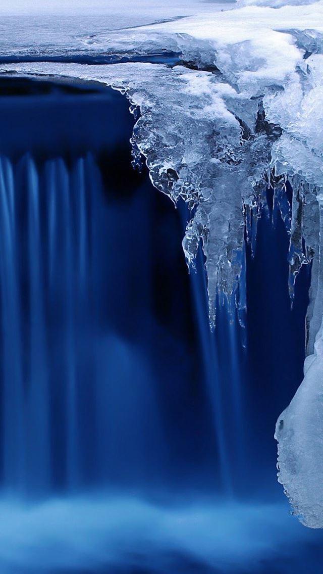Nature Frozen Waterfall IPhone Se Wallpaper Download