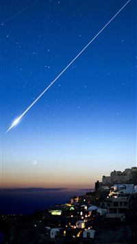 Shooting Star Over Cliff City iPhone 5(s/c)~se wallpaper
