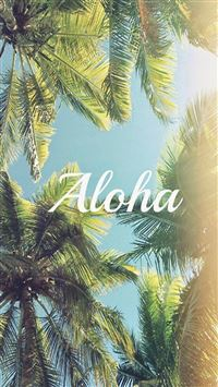 Aloha Palm Trees iPhone 5(s/c)~se wallpaper