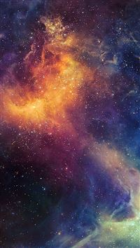 Beautiful Colored Space Nebula iPhone 5(s/c)~se wallpaper