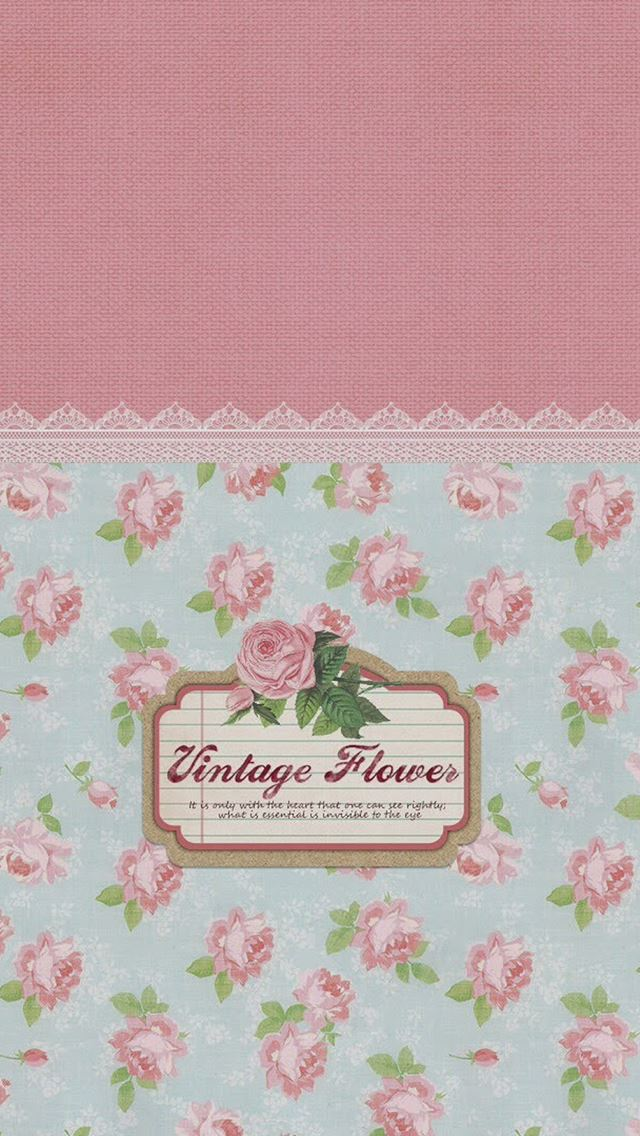 Vintage Flowers Pattern Sign IPhone Se Wallpaper Download