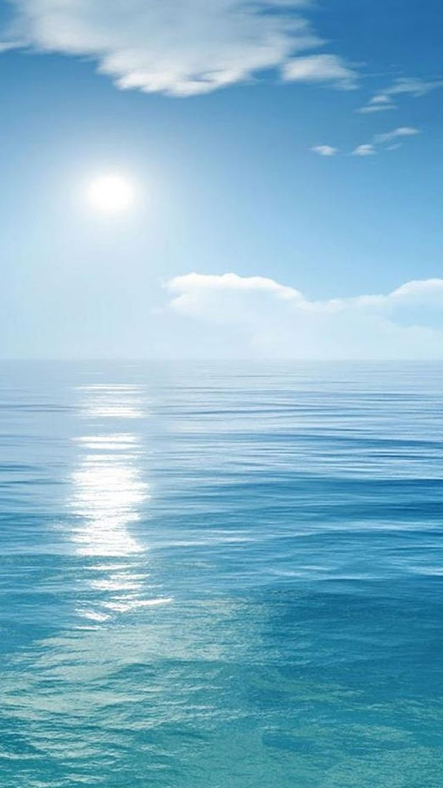 Bright Sunny Scene Over Ocean IPhone Se Wallpaper
