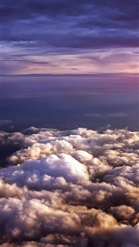 1663 14: Cloudy Flare Sky View Nature iPhone 5(s/c)~se wallpaper