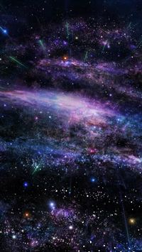 Fantasy Art Star Shiny Nebula Outer Space iPhone 5(s/c)~se wallpaper