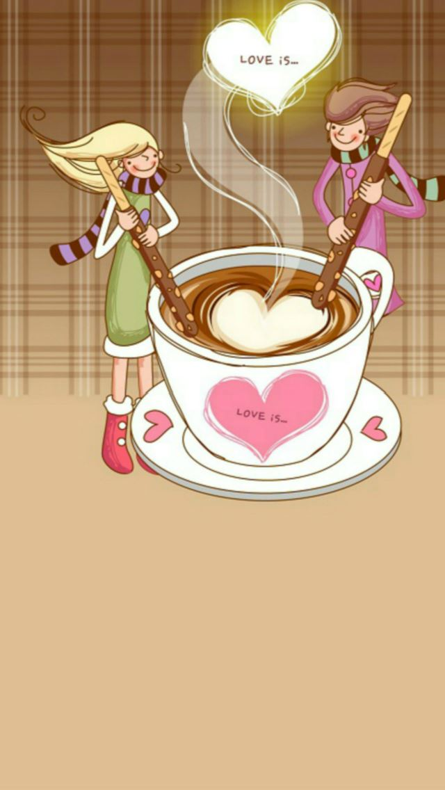 Anime Love Is Cartoon Art Happy Valentine S Day Iphone Se Wallpaper