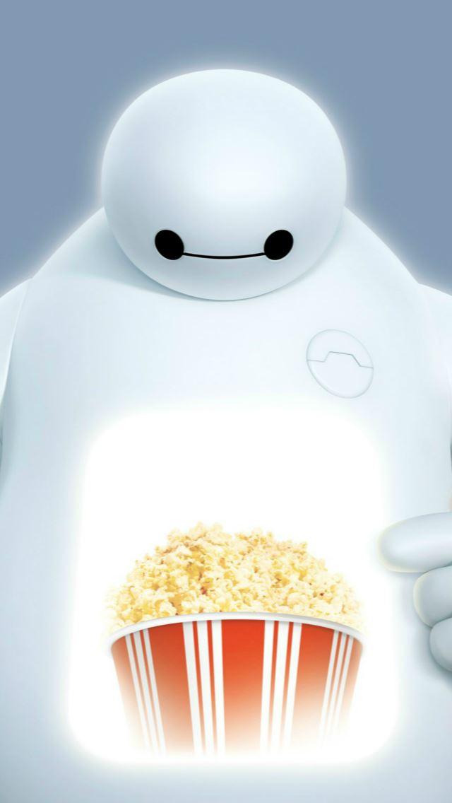 Big Hero 6 Baymax Popcorn Iphone Se Wallpaper Download Iphone