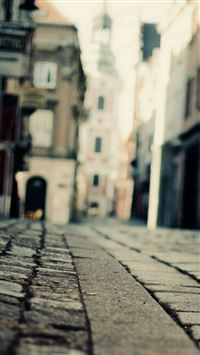 Vintage City Town Bokeh Street Architecture iPhone 5(s/c)~se wallpaper