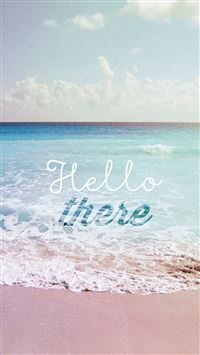 Hello There Summer Wave Beach iPhone 5(s/c)~se wallpaper