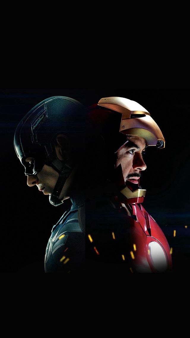 Captain America Civilwar Ironman Hero Art Illustration Iphone Se