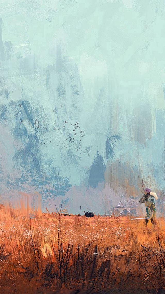 Morning Wadim Kashin Paint Illustration Art IPhone Se Wallpaper