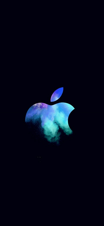 Elegant Apple Mac Event Logo Dark Illustration Art Blue IPhone Se Wallpaper