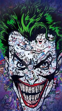 Joker Art Face Illustration Art iPhone 5(s/c)~se wallpaper