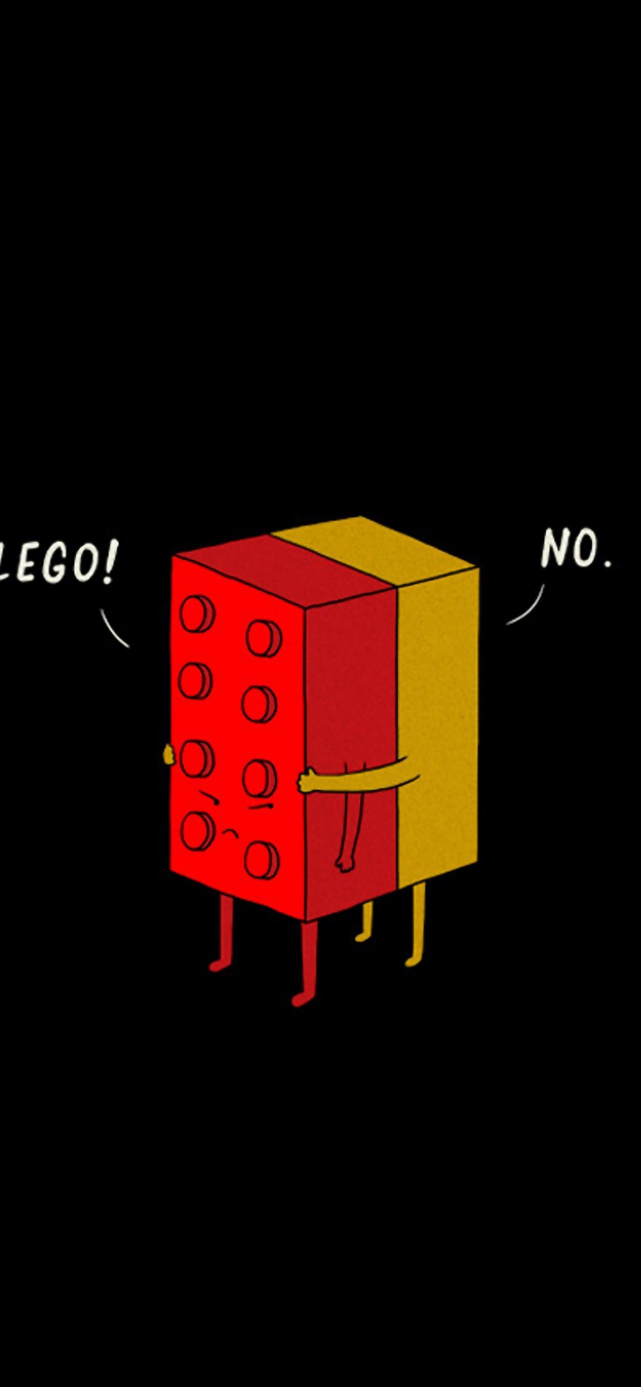 Funny Lego Pieces Hugging Iphone Se Wallpaper Download Iphone