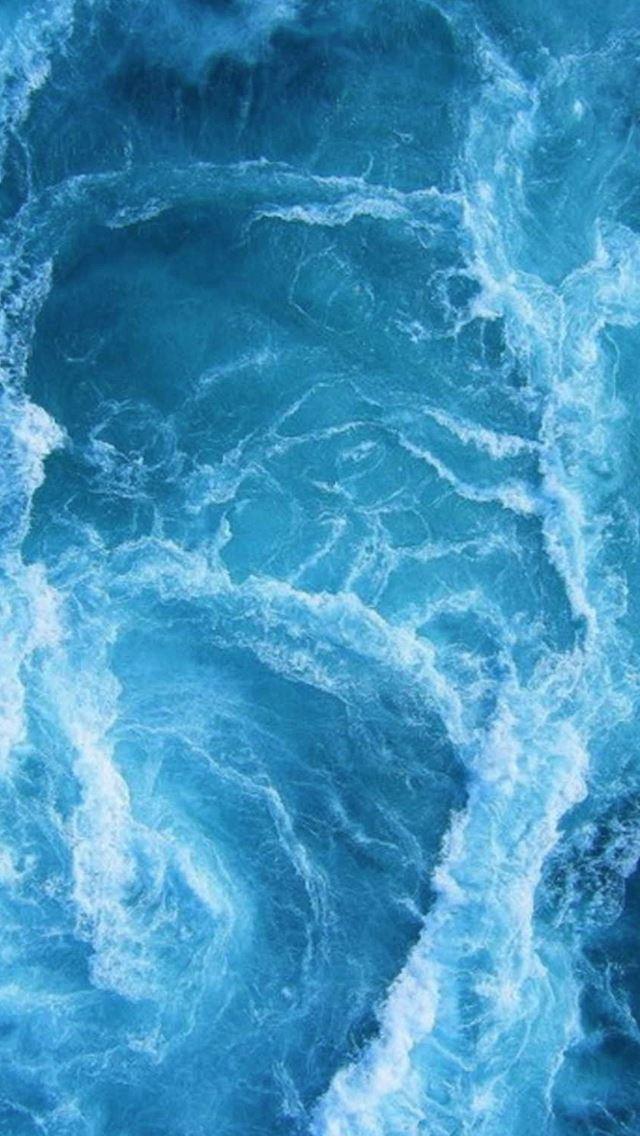 Swirling Blue Ocean Waves Iphone Se Wallpaper Download Iphone