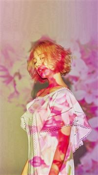 Pink Girl Kpop Spring iPhone 5(s/c)~se wallpaper