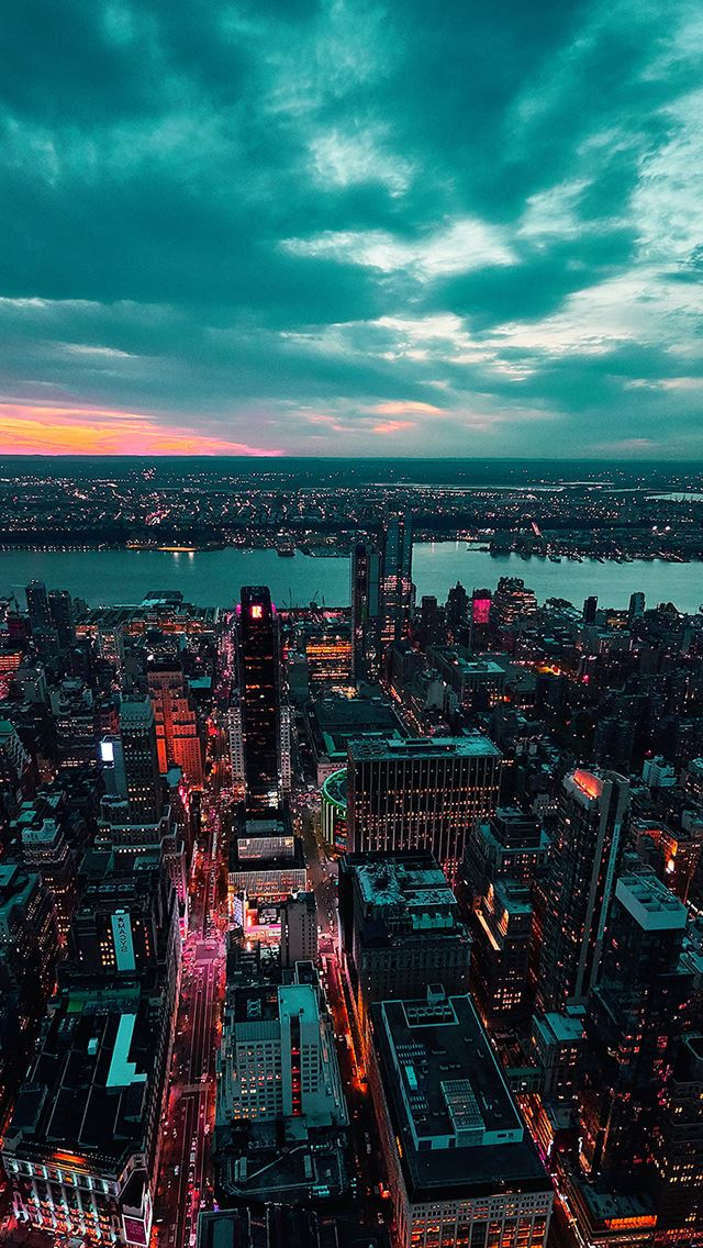 City view sunset iPhone se wallpaper