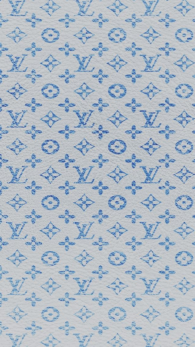 Louis Vuitton blue pattern iPhone se wallpaper