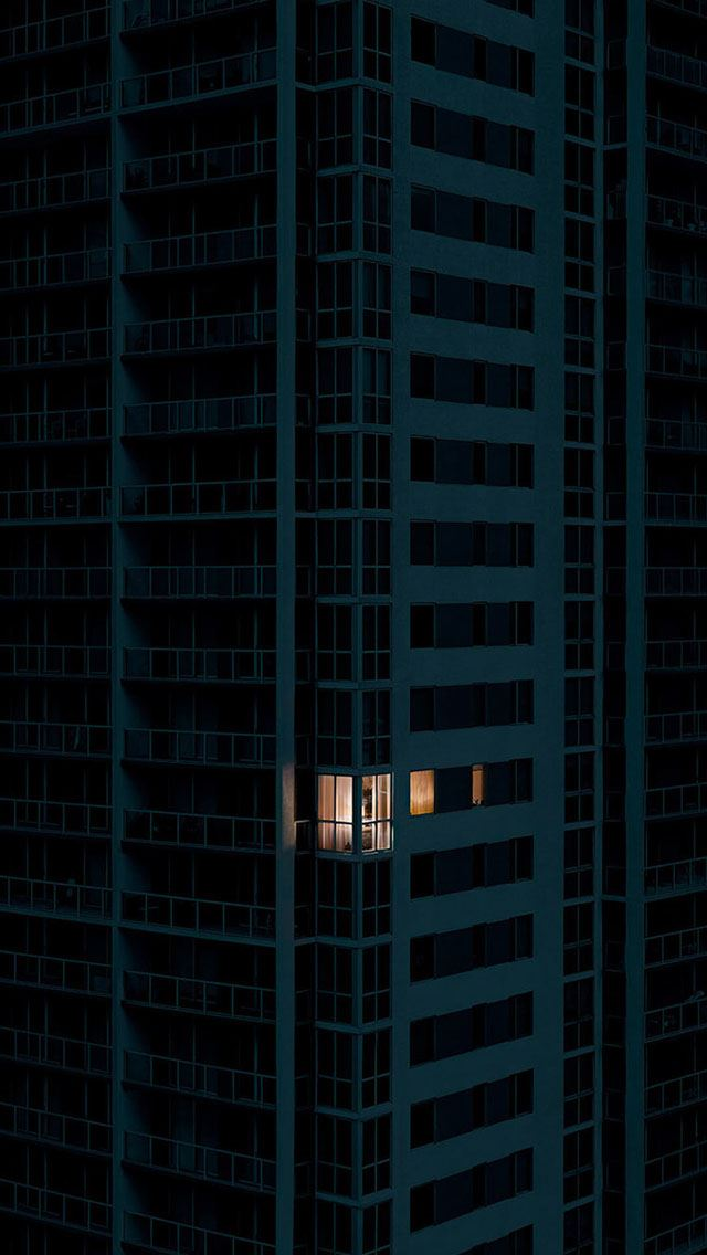 City dark apartment pattern art iPhone se wallpaper