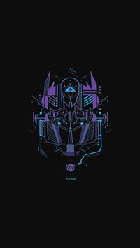 Transformer logo two art iPhone 5(s/c)~se wallpaper