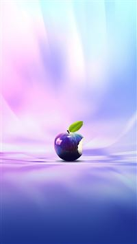 Purple Apple iPhone 5(s/c)~se wallpaper