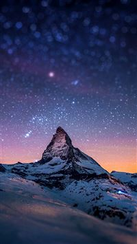 Cervino Night Sky iPhone 5(s/c)~se wallpaper