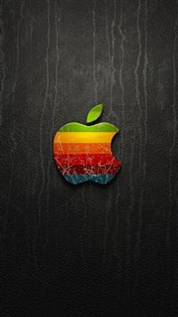 Rainbow Apple Logo iPhone 5(s/c)~se wallpaper