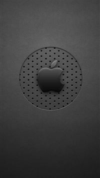 Black Dots Apple Logo iPhone 5(s/c)~se wallpaper