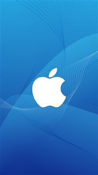 Apple Logo In Wave iPhone 5(s/c)~se wallpaper