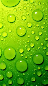 Green Water Drops iPhone 5(s/c)~se wallpaper