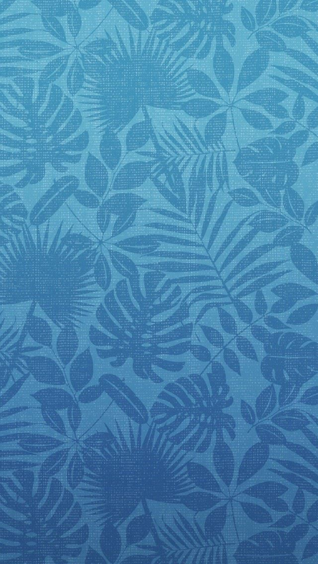 Green Leaves Pattern iPhone se wallpaper