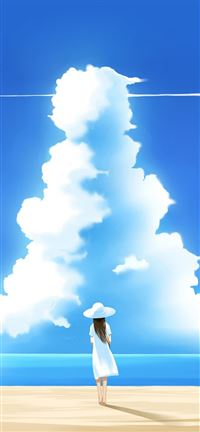 Beautiful Summer Day Illustration iPhone 5(s/c)~se wallpaper